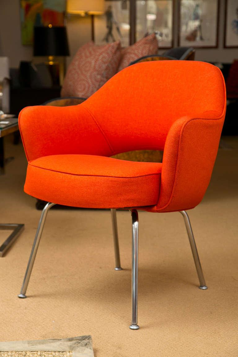 Saarinen for Knoll Executive Arm Chairs in Orange Woven  : ab0b03de 51f9 4d89 9a25 ff941030ae9faspectfitampwidth640ampheight640 from www.chairish.com size 640 x 640 jpeg 38kB