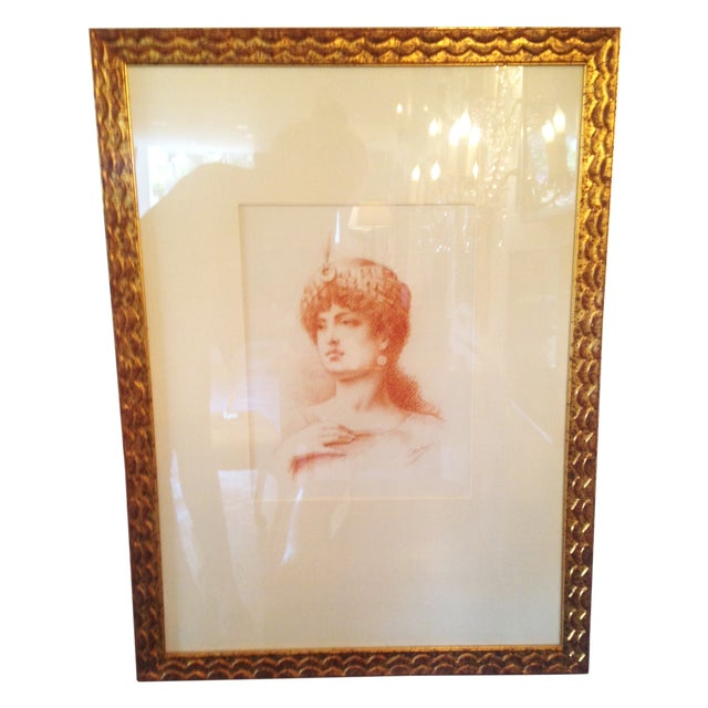 French Sepia Portrait of a Women, Circa 1910 - Image 1 of 4