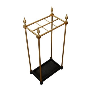 French Brass & Iron Umbrella Stand