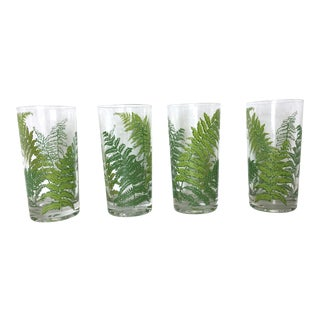 Vintage Culver Fern Glasses - Set of 4