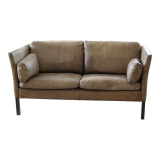 Mogens Hansen Danish Tan Leather Sofa