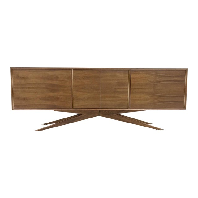 Brass Accent Credenza - Image 1 of 6