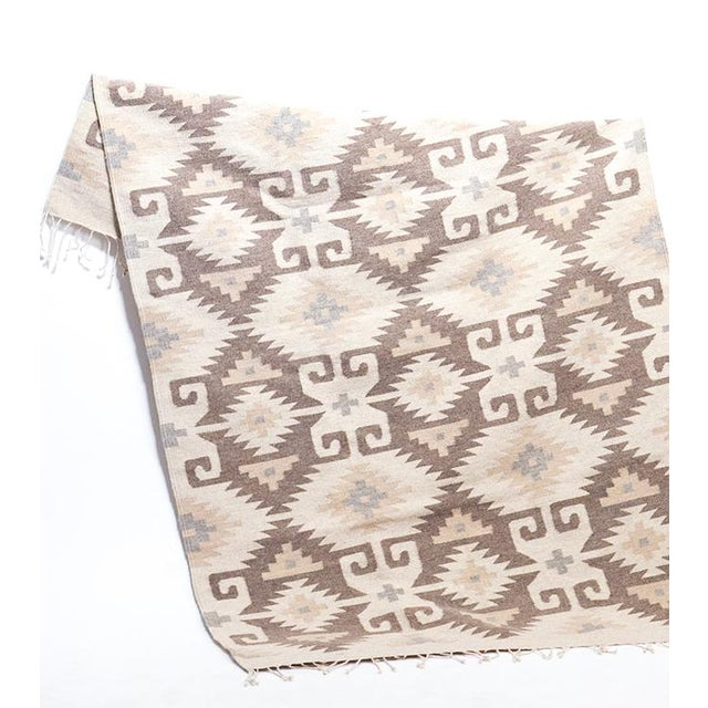 Image of Hand woven Ecru Oaxaca Wool Rug