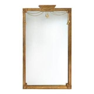Gilt-Wood Chain & Tassel Decorated Mirror