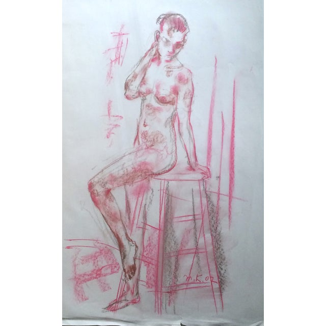 Murat Kaboulov Model in the Studio Drawing - Image 1 of 2