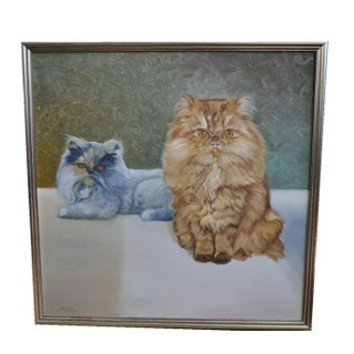 Oil Painting - Two Gorgeous Cats by Max