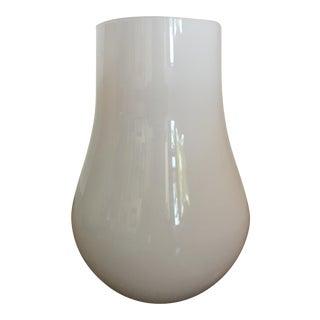 Riekes Crisa Italian Handblown Glass White Vase