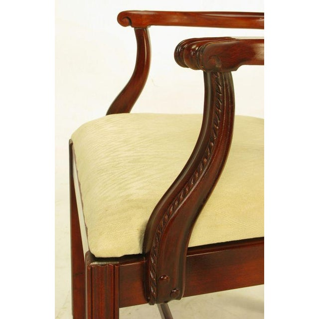 Six Ribbon Back Chippendale Dining Chairs - Image 10 of 10