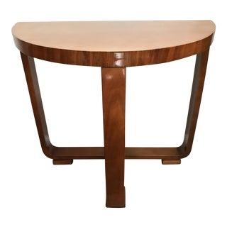 Vintage Art Deco Demilune Console Table