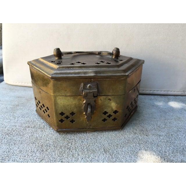 Hexagonal Brass Cricket Box - Image 2 of 8