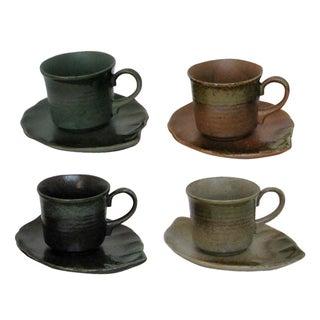 Japanese Hand-Glazed Stoneware - 8 Pieces