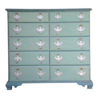 Vintage Highboy Chippendale 10 Drawer Dresser