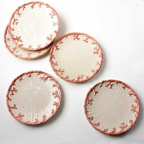 Coral Side Plates - Set of 5 - Image 2 of 3