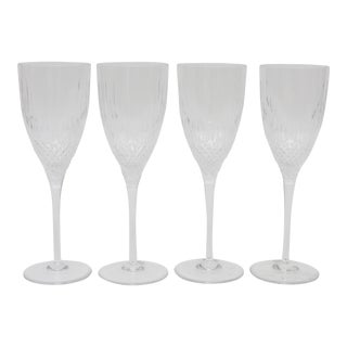 Vintage Crystal Champagne Glasses by Rogaska Yugoslavia - Set of 4