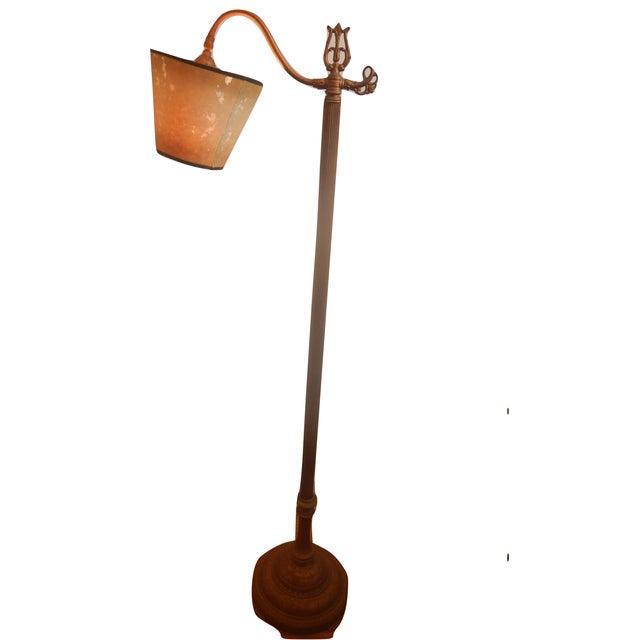 Image of Antique Bridge Arm Floor Lamp