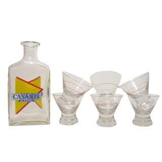 French Bistro Carafe & Glasses - Set of 7