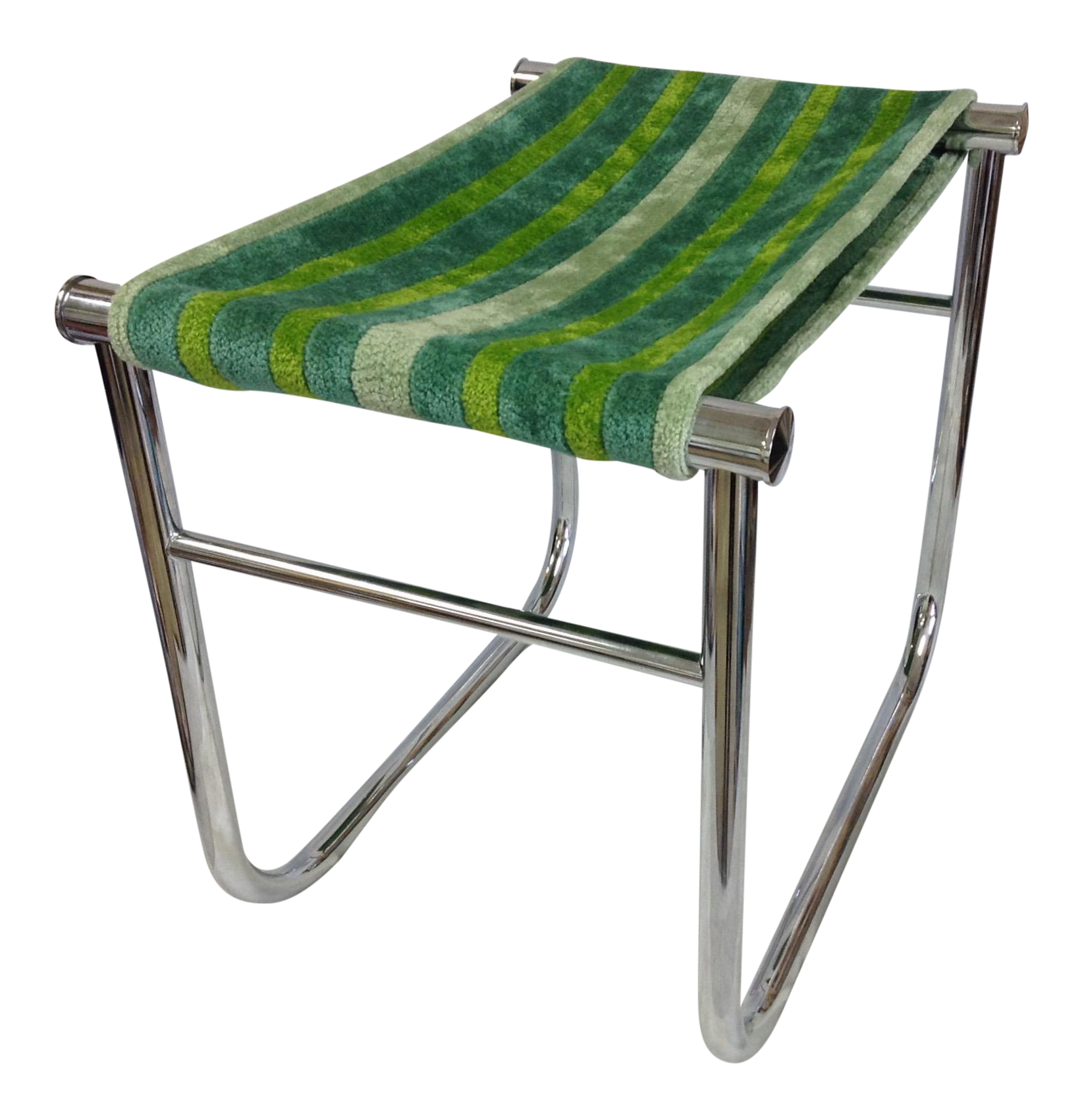 le corbusier chrome low stool