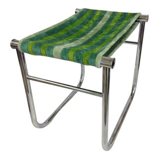 Le Corbusier Lc/9 Chrome Low Stool