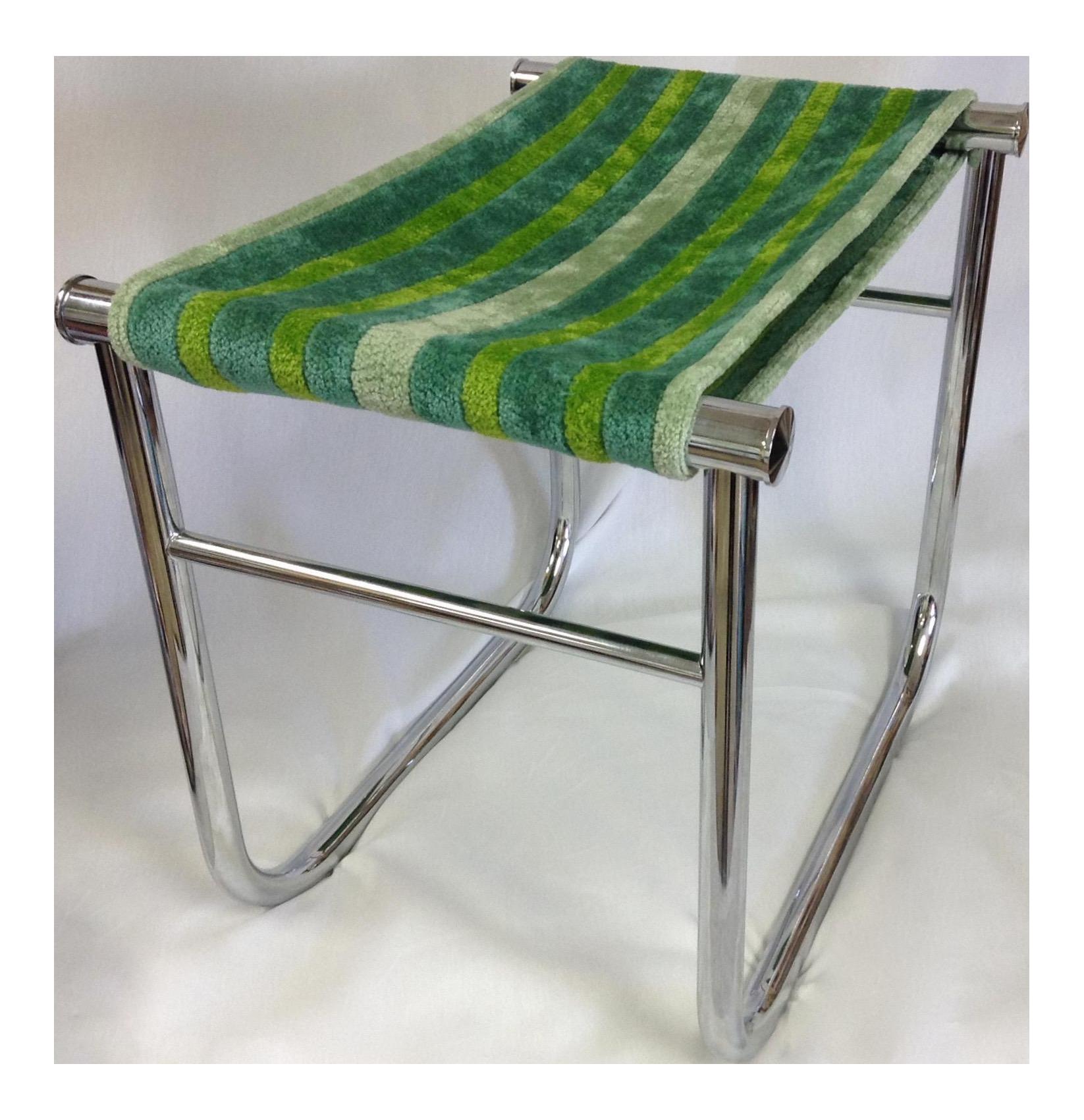 le corbusier lc9 chrome low stool