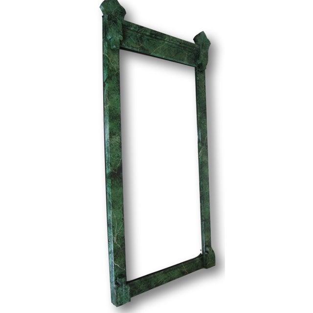 Refurbished Vintage Green Faux Marble Mirror - Image 2 of 7