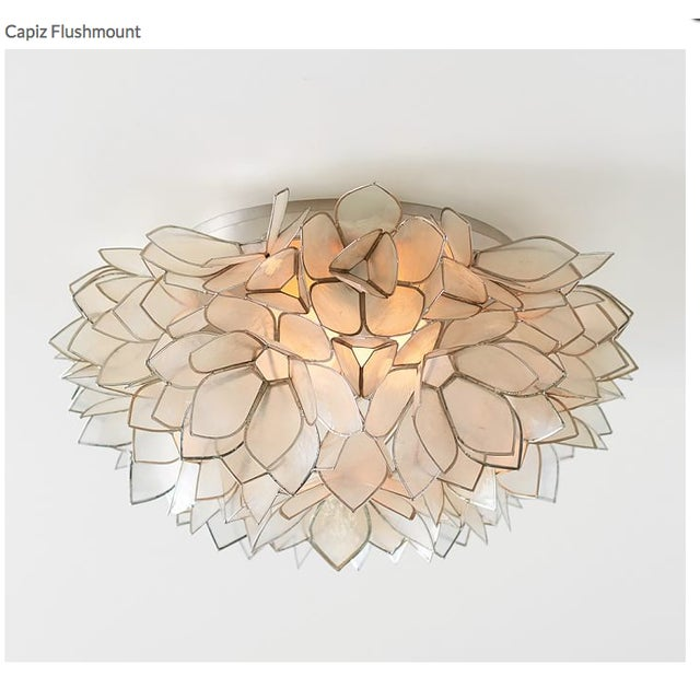 Capiz Petal Flushmount Light - Image 4 of 4