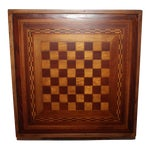 Image of Early 20th Century Reversible Inlaid Wood Gameboard