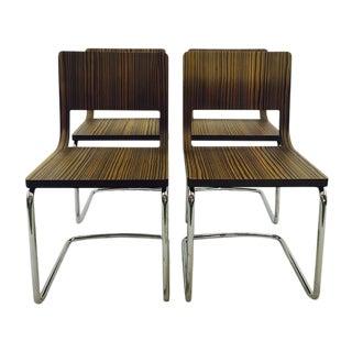 Mid-Century Italian Chrome Dining Chairs - S/4
