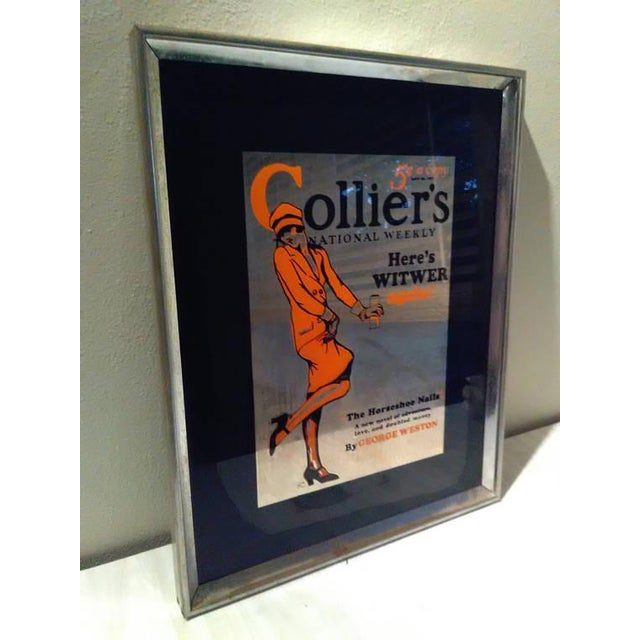 Vintage Colliers National Weekly Advertising Glass - Image 3 of 4