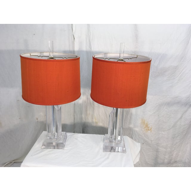 Mid-Century Acrylic Lamps - a Pair - Image 3 of 11