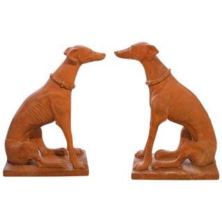 Pair of Italian Terra Cotta Dogs
