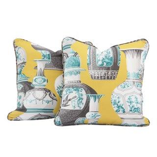 Grecian Vase Throw Pillows - A Pair