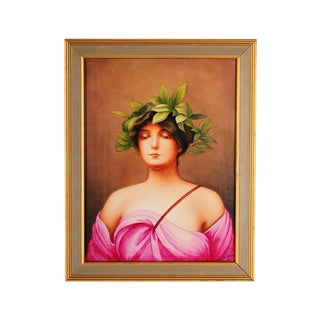 "KPM ""Daphne"" German Porcelain Plaque Painting"