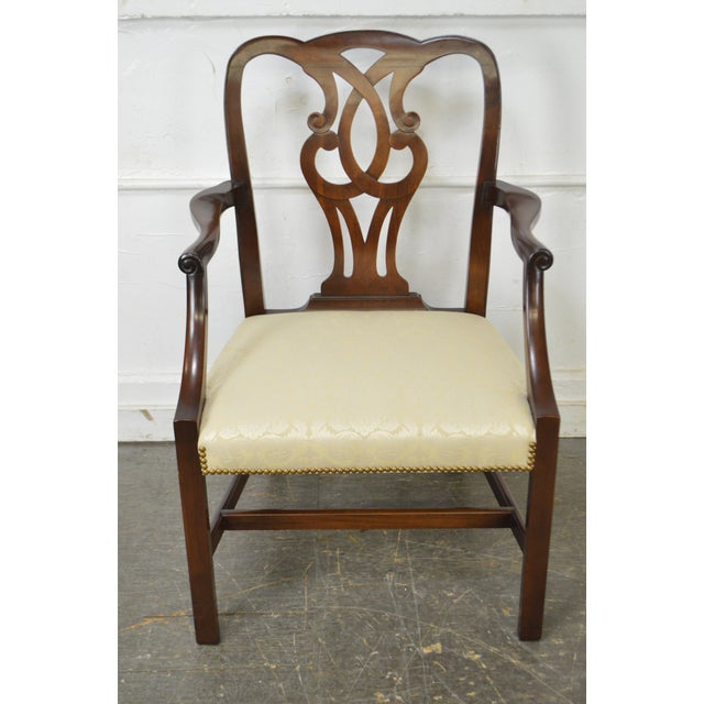 Baker Vintage Set of 6 Solid Mahogany Chippendale Style Dining Chairs - Image 5 of 10