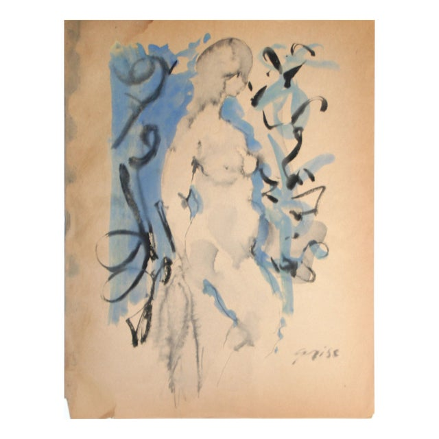 Hendrik Grise Orignal Watercolor Nude - Image 1 of 5