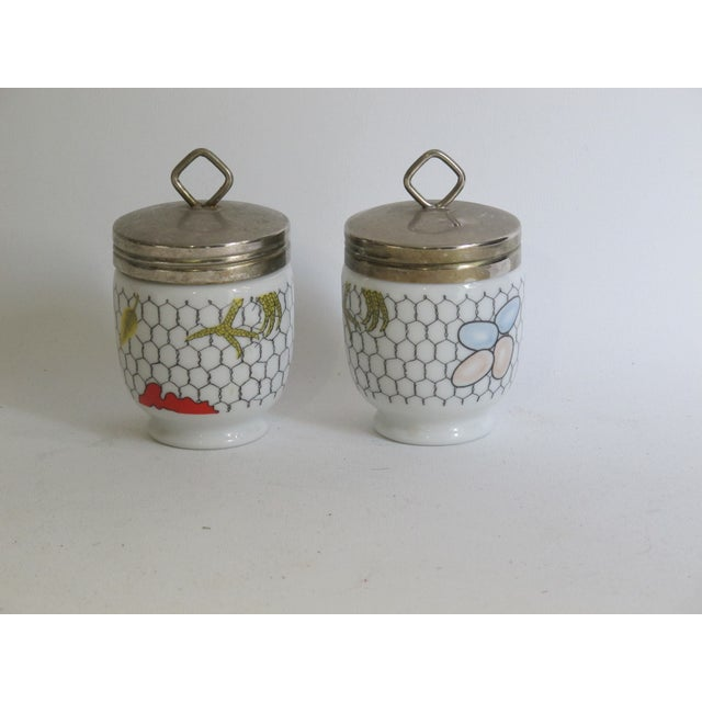 Fornasetti-Style Egg Coddlers - a Pair - Image 4 of 5