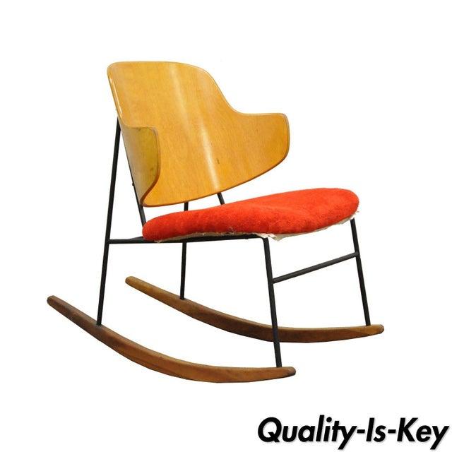 Vintage Mid Century Danish Modern Lb Kofod Larsen Penguin Rocking Chair Rocker - Image 11 of 11