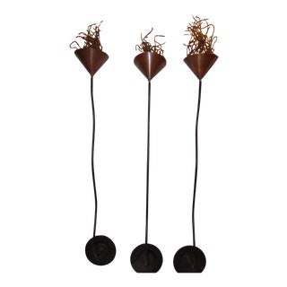 Michael Arams Wall Mounted Candle Sconces - Set of 3