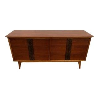 Bassett Walnut Mayan Series Long Dresser