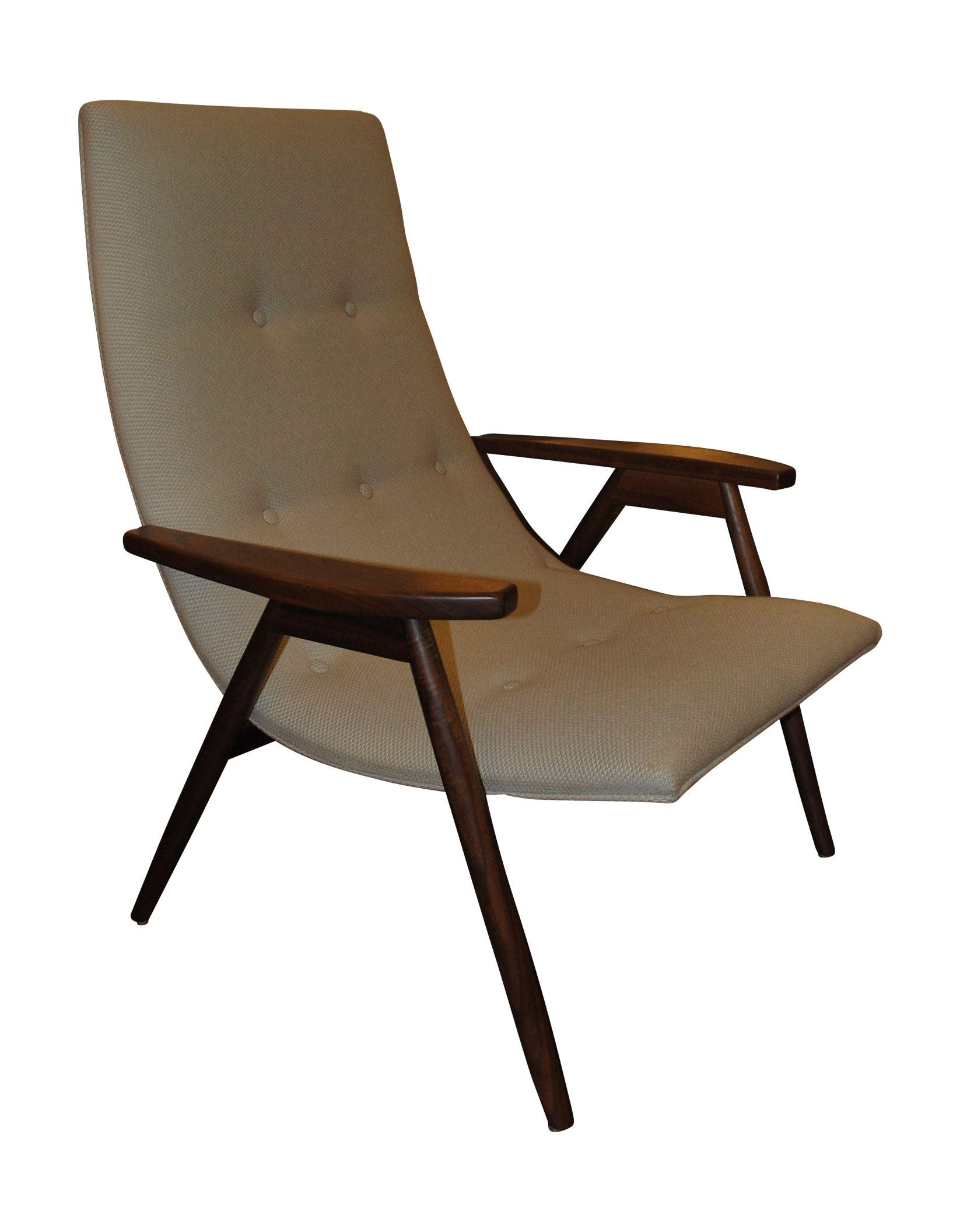 Superb Alan Gould Eggshell Chair For Thayer Coggin   Image 1 Of 3