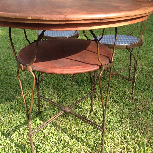 Vintage Ice Cream Parlor Table Set- 5 Pieces - Image 8 of 11