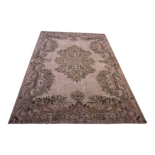 "Pink Turkish Over-Dyed Handmade Area Rug - 6'6"" X 10'"