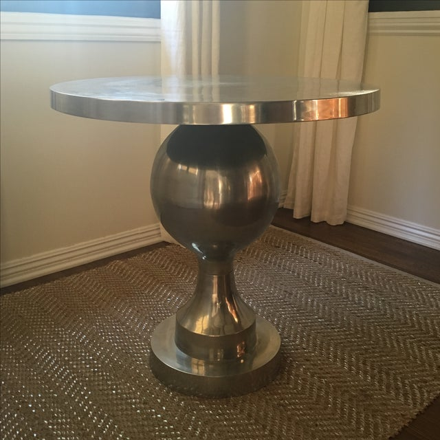 Vintage Silver Tulip Table - Image 2 of 6