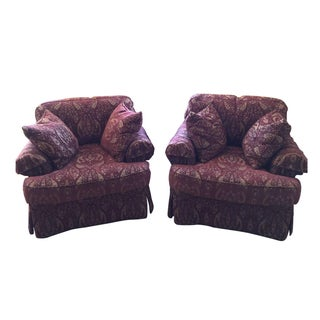 Henredon Upholstery Collection Club Chairs - Pair