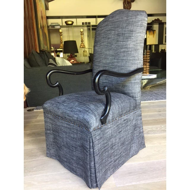 Gray Upholstered Dining Chairs - A Pair - Image 3 of 5
