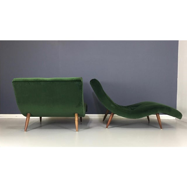 Adrian Pearsall Wave Lounge Chaise - Image 8 of 8