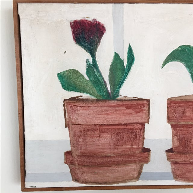 Mid-Century Flower Pot Painting - Image 7 of 10