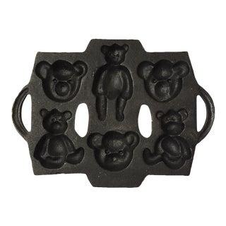 Teddy Bear Cast Iron Cake Mold