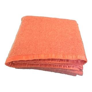 Vintage Wool & Satin Blanket