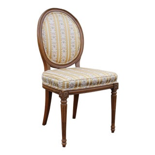 Vintage Hickory Louis XVI Style Oval Back Accent Chair
