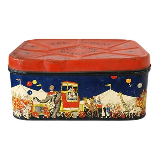 1940s Supreme Biscuit Circus Tin Box